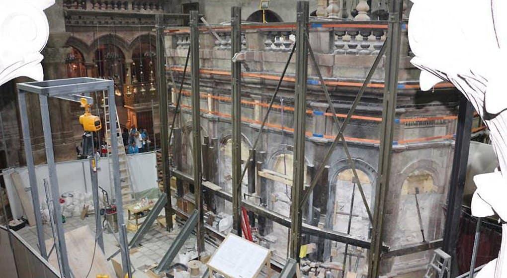Реставрацию Кувуклии Гроба Господня планируют завершить к Пасхе 2017 года