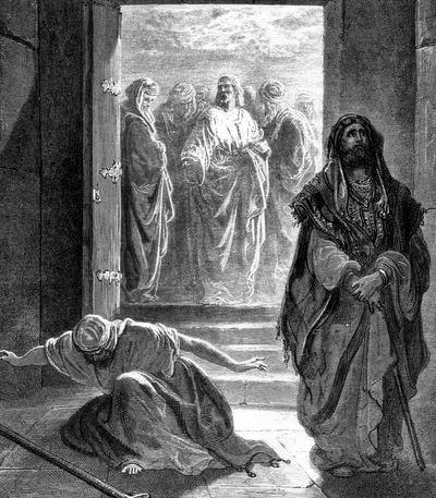 Мытарь и Фарисей. Гюстав Доре