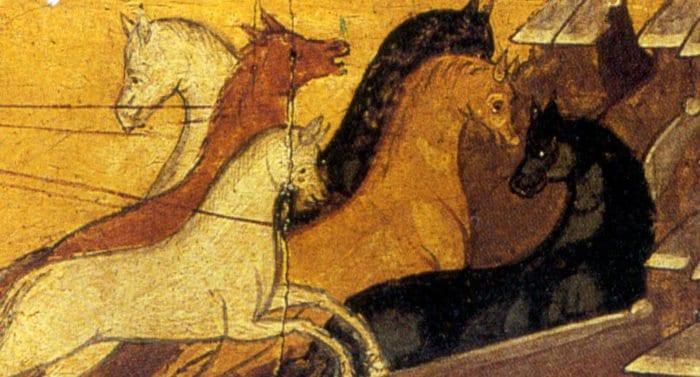 Икона с лошадками