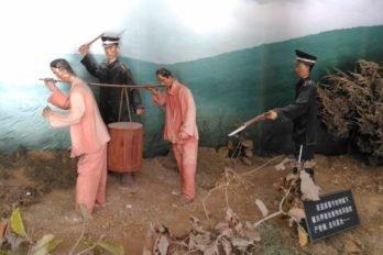 Русская тюрьма в Порт-Артуре. Манекены