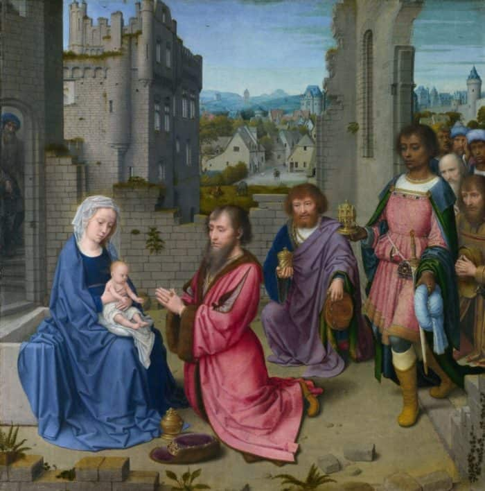 Герард Давид. Поклонение волхвов. 1515—1523 гг. Лондонская национальная галерея, Лондон