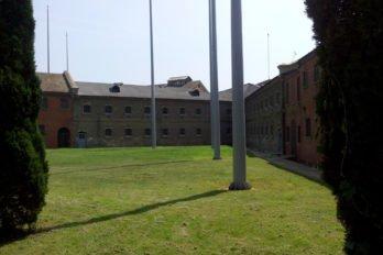 Русская тюрьма в Порт-Артуре. Внутренний двор