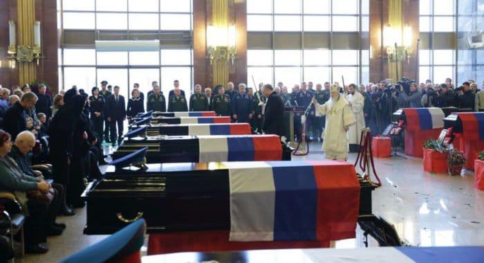 Жертв крушения ТУ-154 над Черным морем похоронили в Мытищах