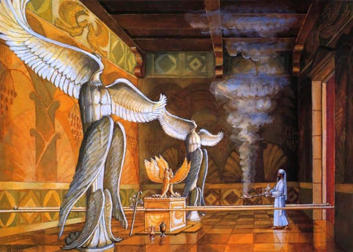 Святая Святых в Храме царя Соломона, 1995. Художник Зелий Смехов