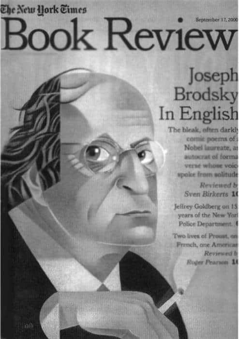 Обложка книжного обозрения «New York Times», посвященного Иосифу Бродскому.