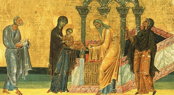 Церковь вспоминает праведного Симеона и Анну пророчицу