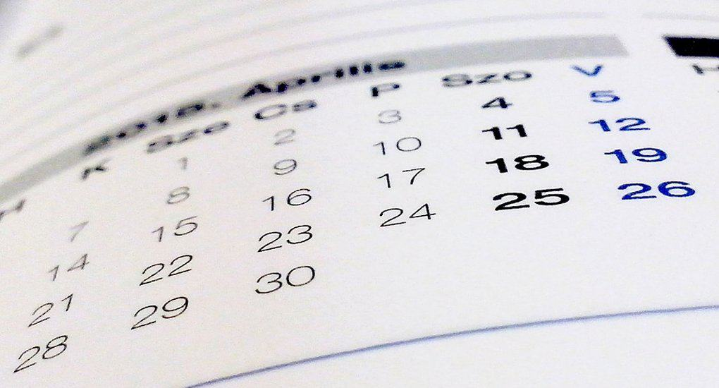 Опубликована бесплатная церковная календарная сетка на 2019 год