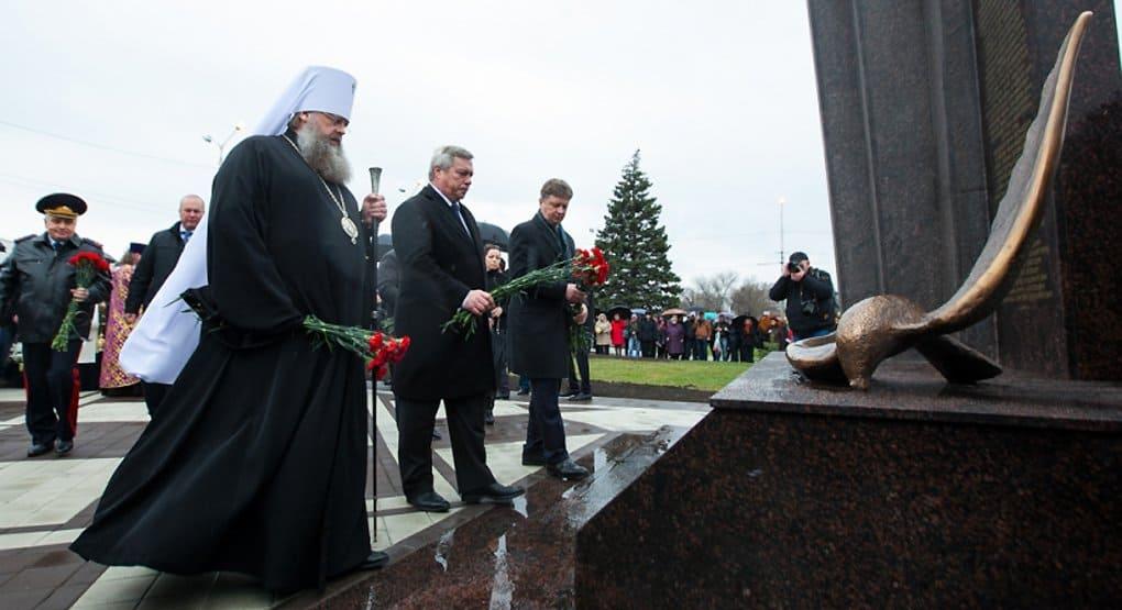 В Ростове-на-Дону освятили памятник жертвам крушения «Боинга»