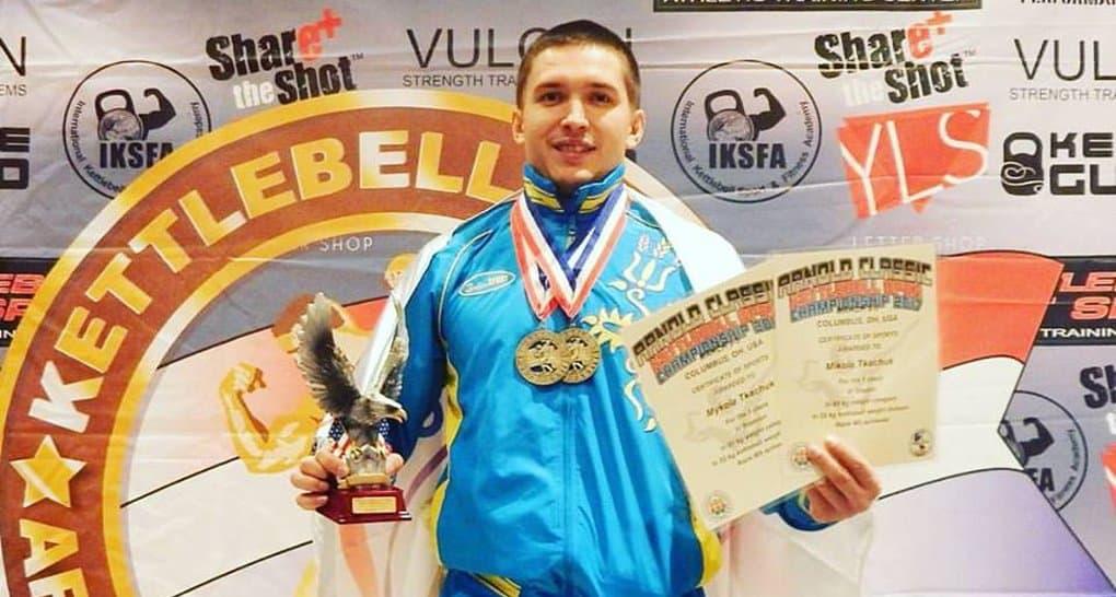 Киевский семинарист победил в турнире Шварценеггера по гиревому спорту