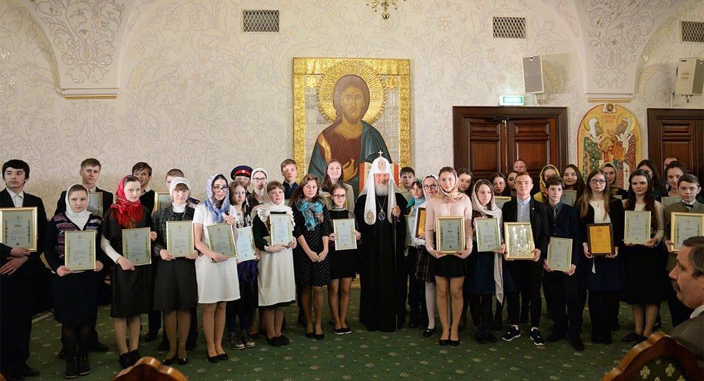 Патриарх наградил победителей III конкурса «Лето Господне»