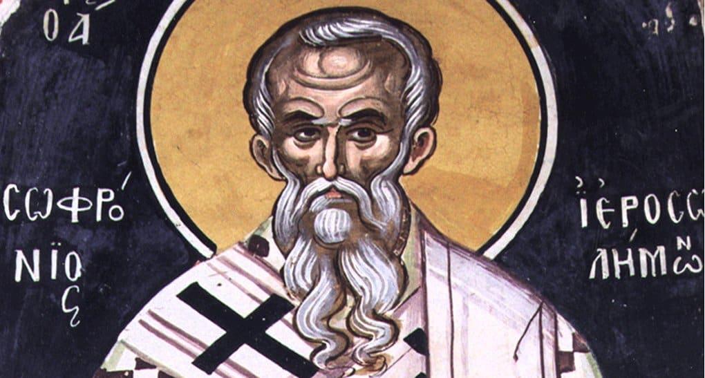 Церковь вспоминает святого патриарха Иерусалимского Софрония