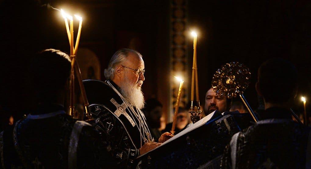 Патриарх Кирилл прочитал 12 Страстных Евангелий