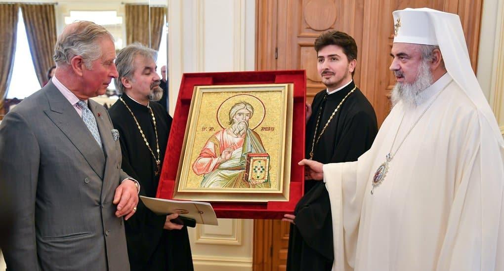 Принцу Чарльзу подарили в Румынии икону святого Андрея Первозванного