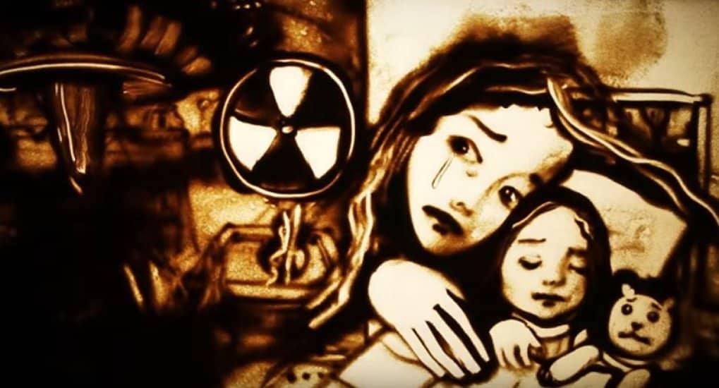 В память о Чернобыльской трагедии сняли песочный фильм