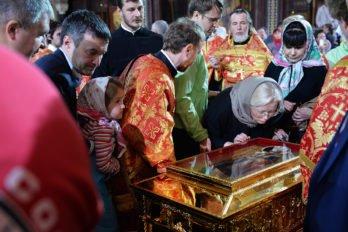 Всенощное бдение в праздник святителя Николая. Встреча мощей святителя Николая принесенных в Россию из Итальянского города Бари