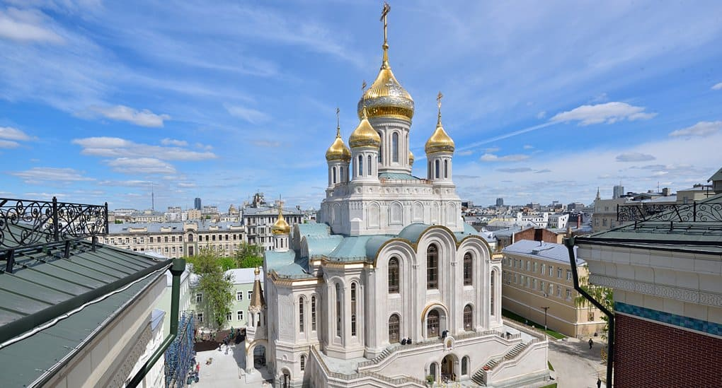 Патриарх Кирилл освятил храм Новомучеников в Сретенском монастыре