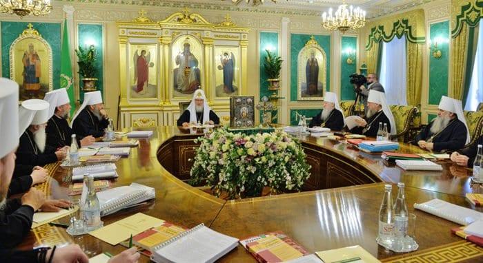 В Даниловом монастыре прошло заседание Священного Синода Русской Церкви