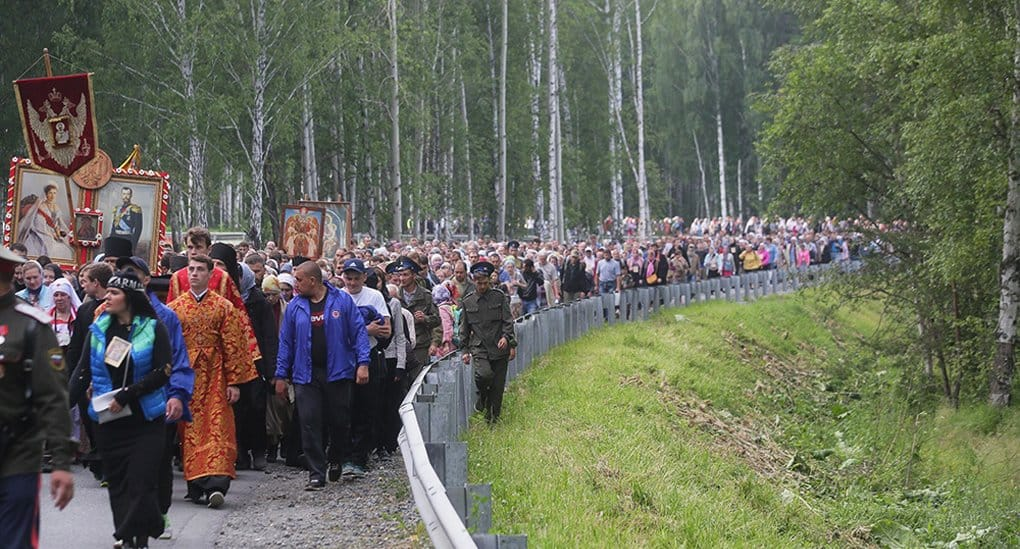 Более 60 тысяч человек прошли крестным ходом в память о Царской семье