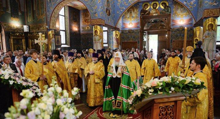 Патриарх Кирилл освятил храм Евфросинии Московской в Котловке