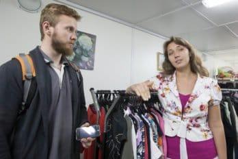 Мария Студеникина с журналистом