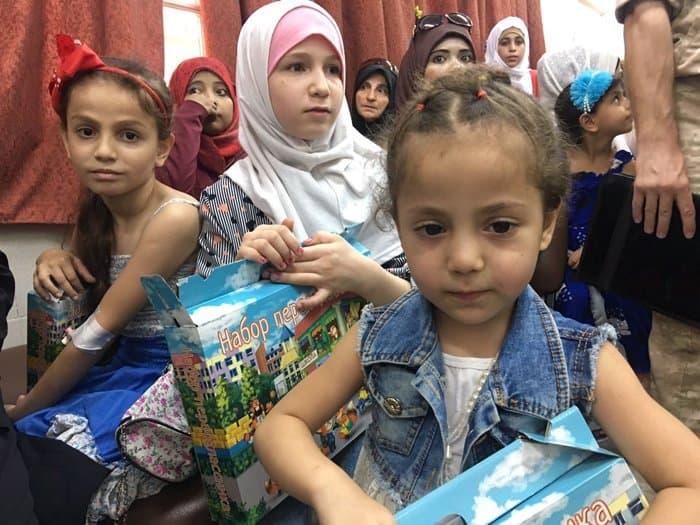 Сирийские дети получили вторую партию помощи от российских верующих