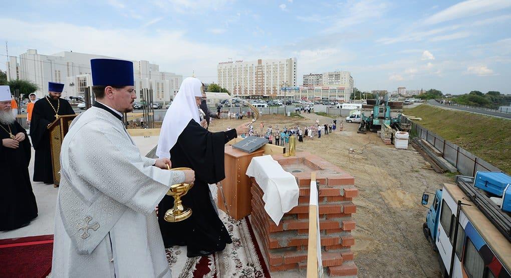 Патриарх Кирилл заложил в Кургане Свято-Троицкий собор
