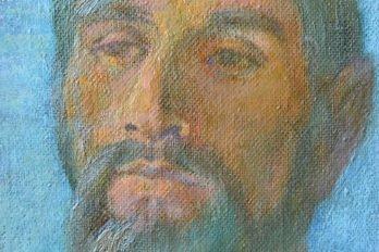 Портрет брата 45х35. Кар., М. 1977 (Фрагмент)