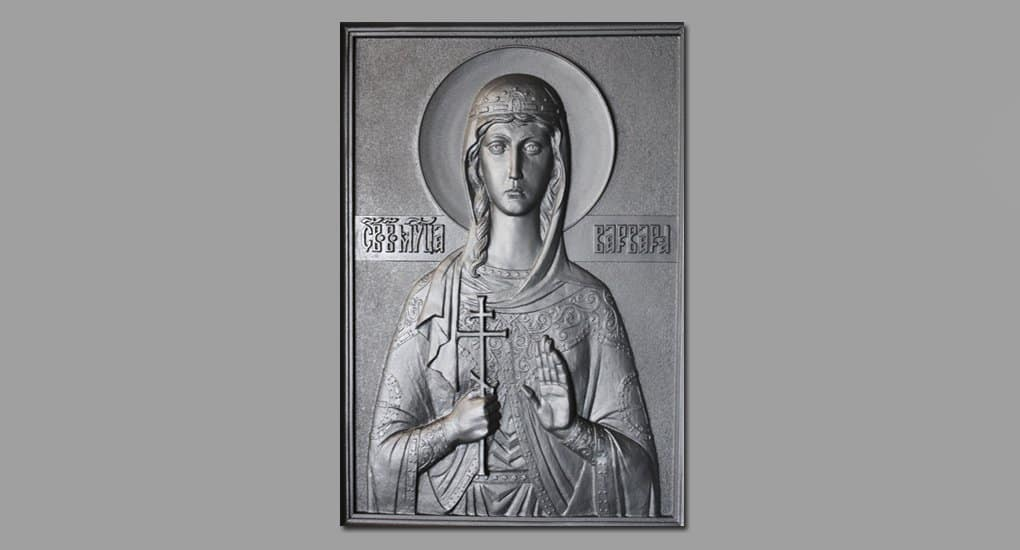 Уникальную чугунную икону отлили для петербургского «Метростроя»