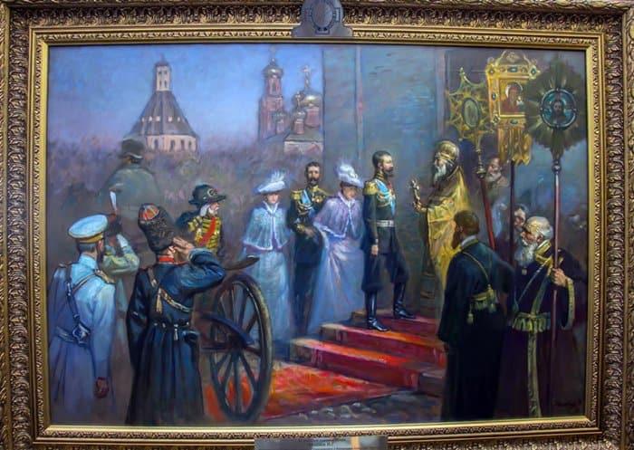 В ИППО представили картину, посвященную Царской семье