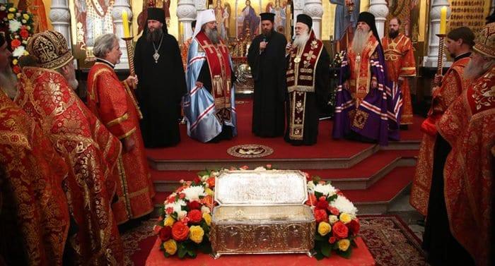 Мощи святого Димитрия Солунского из Греции привезли в Екатеринбург