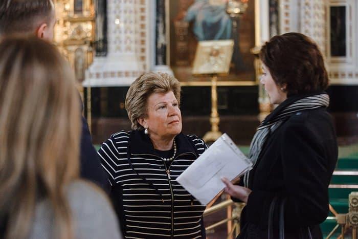 Первой леди Кипра рассказали о храме Христа Спасителя