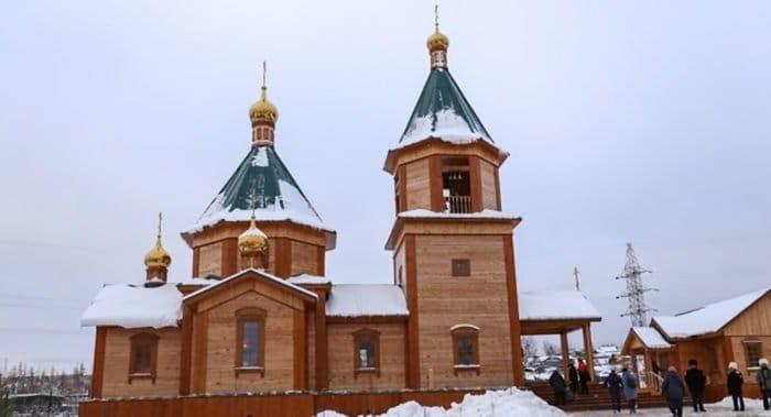 Освящен первый якутский храм в честь святого патриарха Тихона