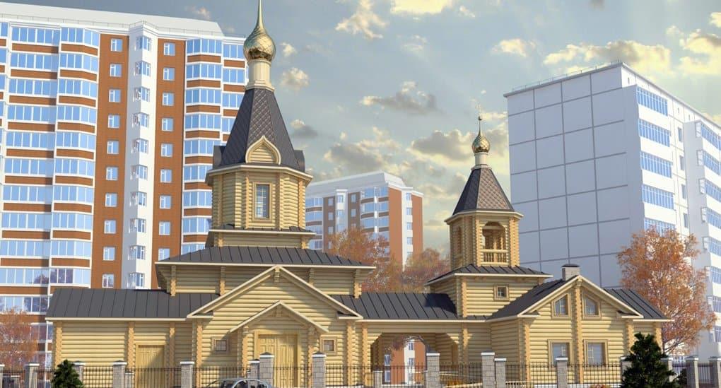 На севере Москвы вручную собирают уникальный деревянный храм