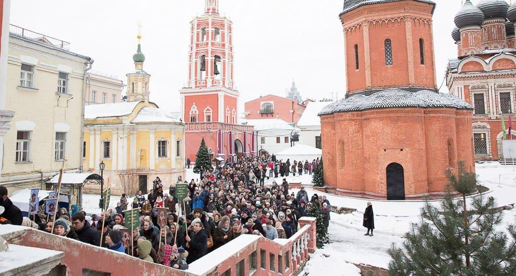 Перед Рождеством в Москве пройдет первый в 2018 году крестный ход