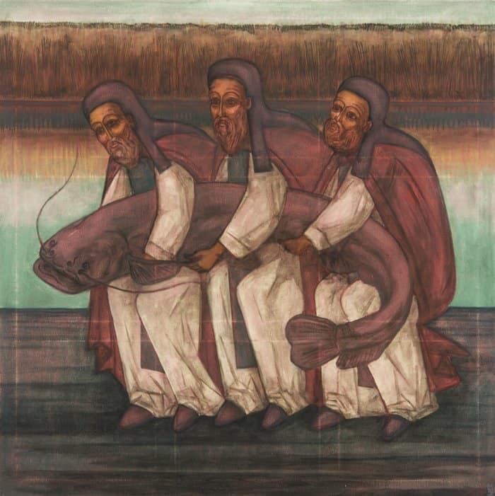 Необычный взгляд Максима Бови на русских святых представили в Петербурге