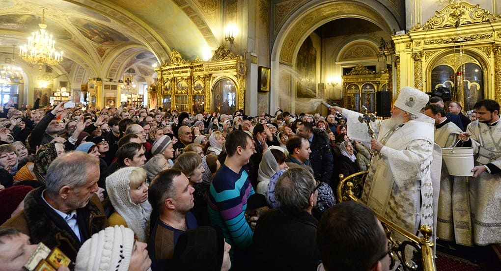 В праздновании Крещения Господня ожидается участие около 5 млн. россиян