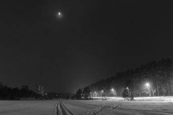 Ночь перед Рождеством. Климовск, Московская область. Фото Дениса Романова