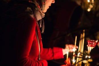 Рождественская служба на Подворье мужского Коневского монастыря в Санкт-Петербурге. Фото Александры Кулик