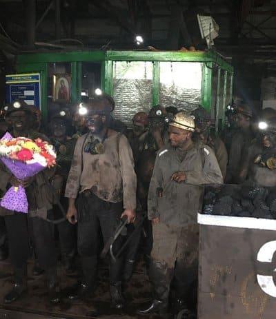 На украинской шахте святой Матроны Московской освятили лаву