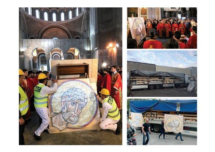 В Белграде презентуют уникальные российские мозаики для храма святого Саввы