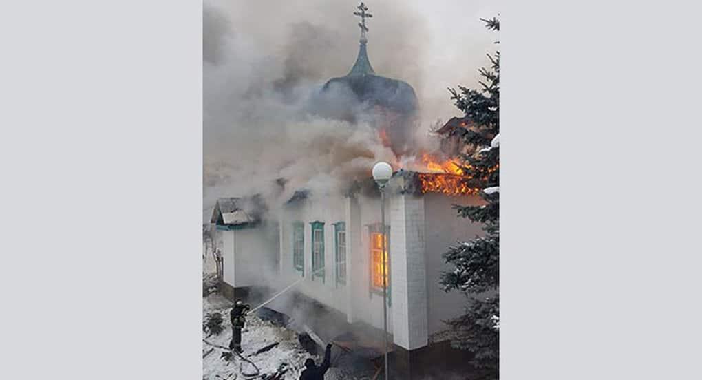 Сгоревший в Казахстане храм помогают восстановить верующие разных религий