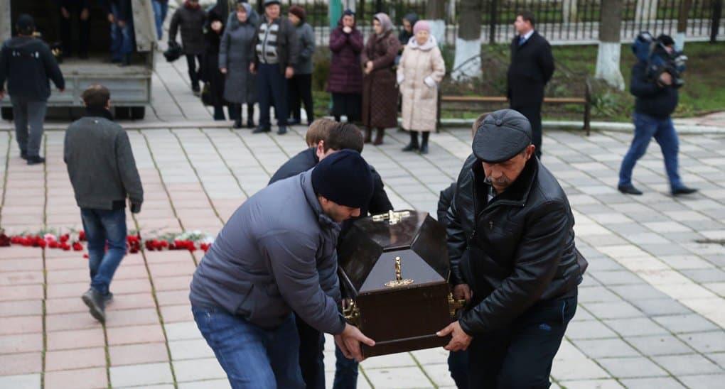 Женщин, погибших при стрельбе в Кизляре, похоронили у храма