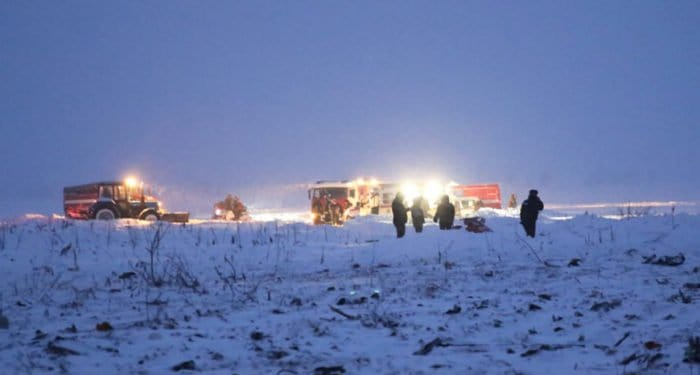 В Подмосковье разбился самолет с 71 человеком на борту