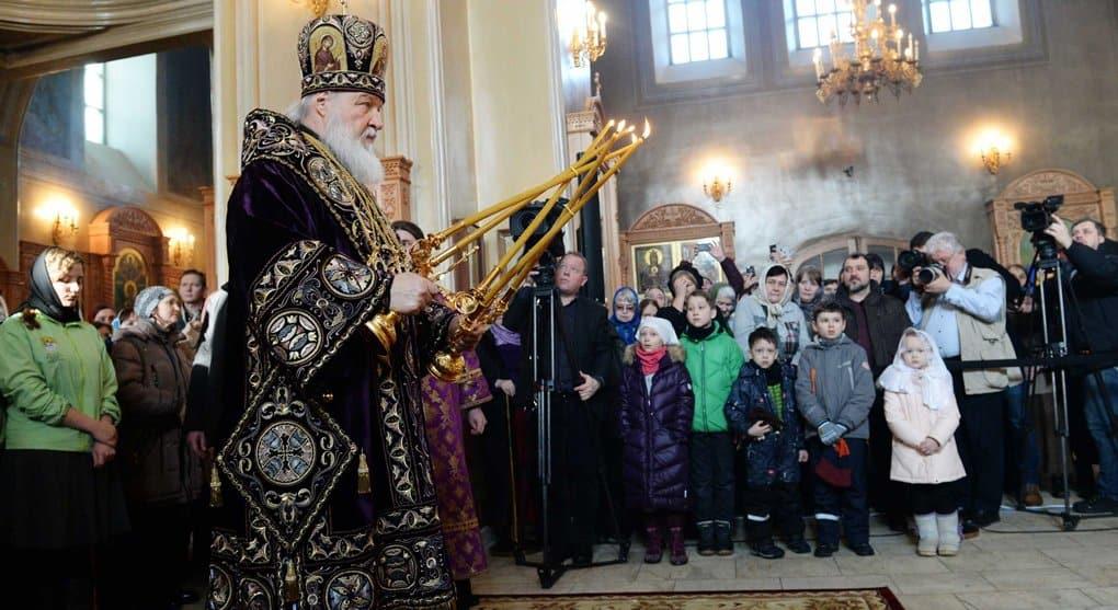 Патриарх Кирилл служил на первой неделе Великого поста, несмотря на перенесенную пневмонию