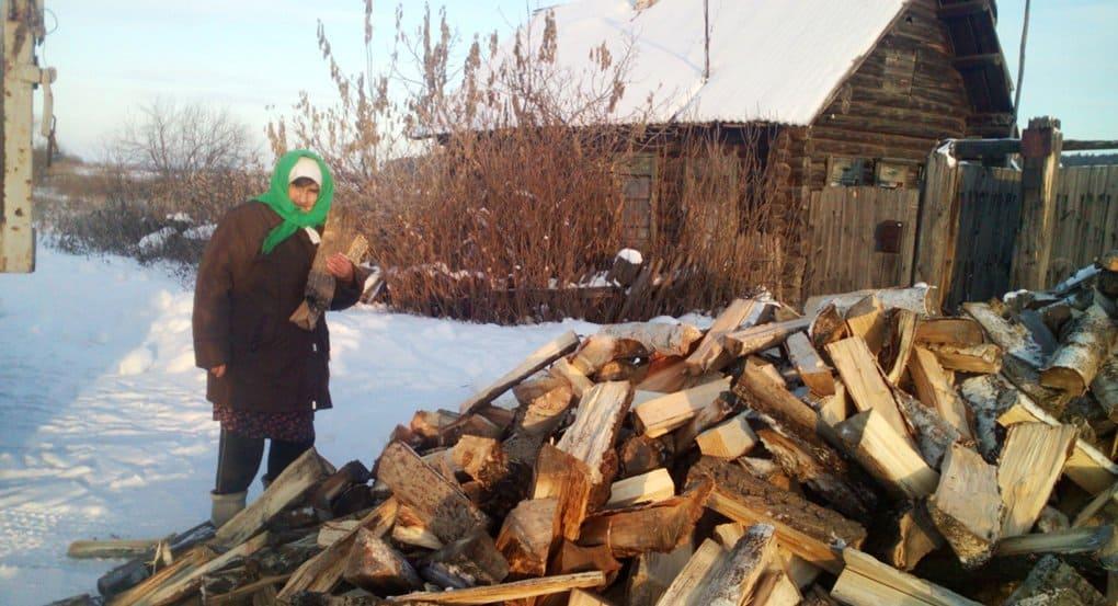 Пять епархий помогли нуждающимся селянам запастись дровами