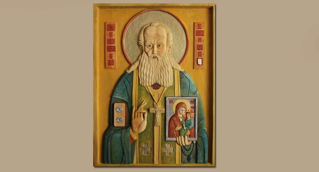 Создана редкая тактильная икона преподобного Аристоклия Афонского