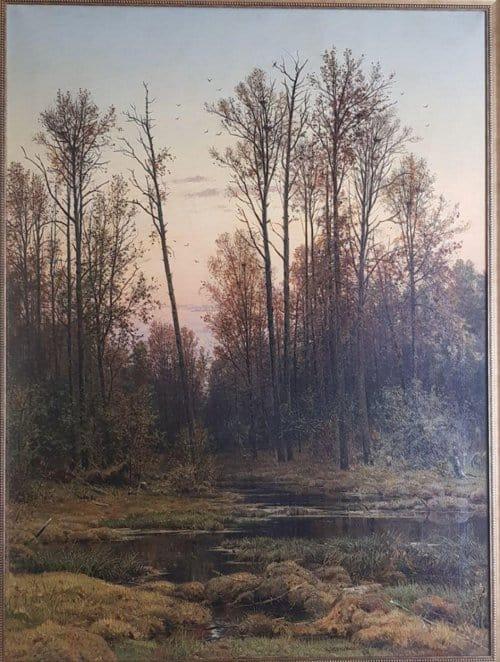 Картина Ивана Шишкина «Лес весной» оказалась «Осенью»