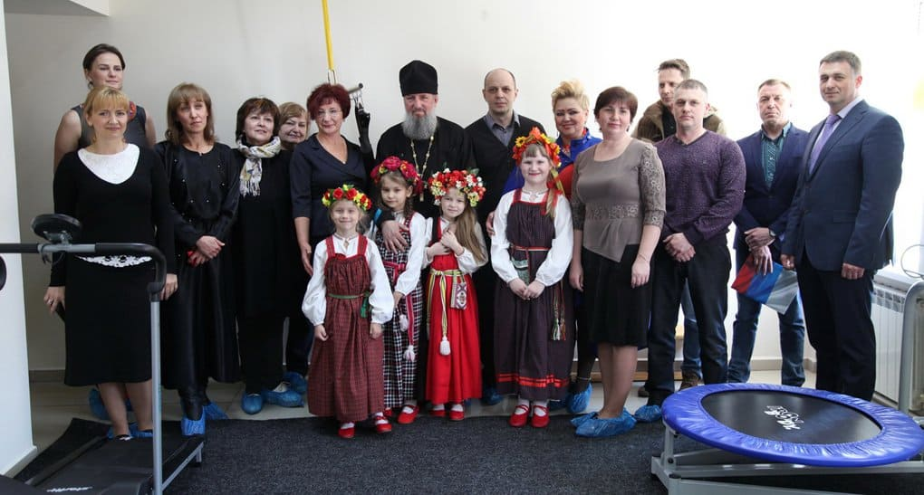 Тренажерный зал для детей-инвалидов открыла Находкинская епархия