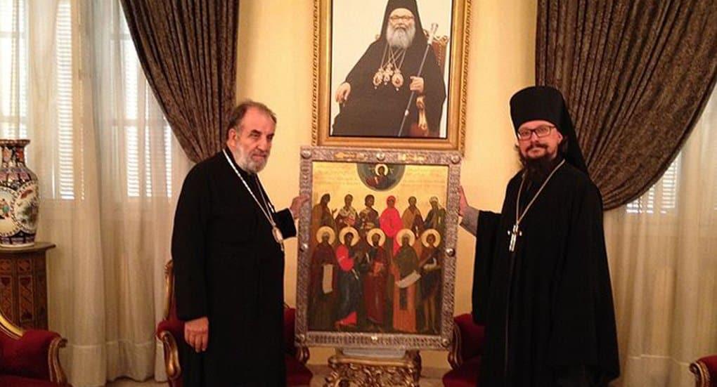 В МДА написали икону Дамасских святых для монастыря в Маалюле