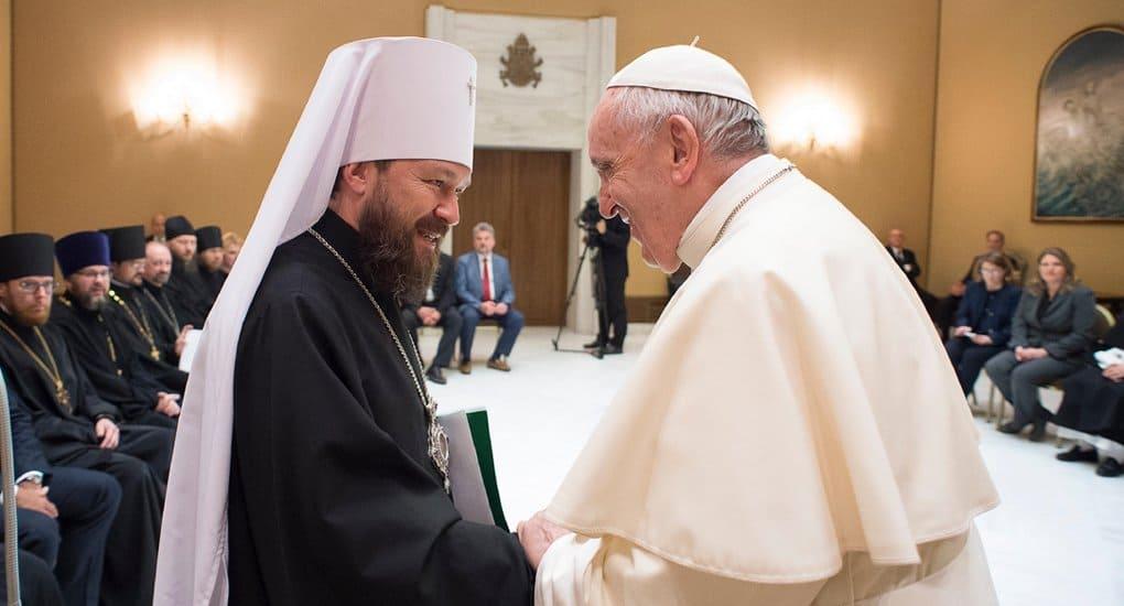 Папа Франциск поддержал единство Русской Православной Церкви